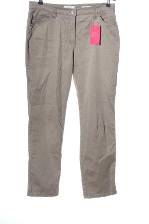 Brax Pantalone a vita bassa grigio chiaro stile casual