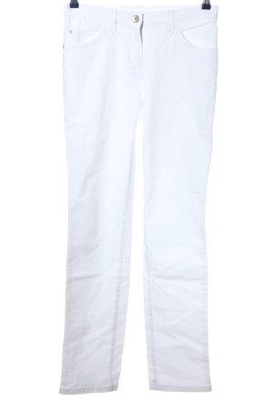 Brax Jeans vita bassa bianco stile casual