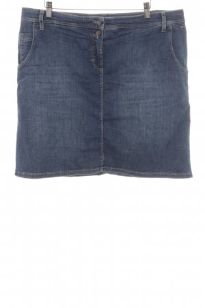 Brax Denim Skirt steel blue-azure casual look