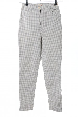 Brax Peg Top Trousers light grey-white check pattern business style