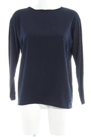 Brax Langarm-Bluse dunkelblau Casual-Look