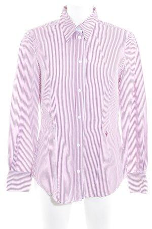 Brax Langarm-Bluse weiß-purpur Streifenmuster Business-Look