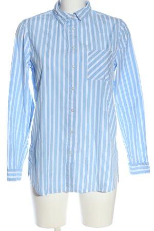 Brax Koszula z długim rękawem biały-niebieski Na całej powierzchni