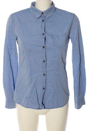 Brax Langarmhemd blau meliert Casual-Look
