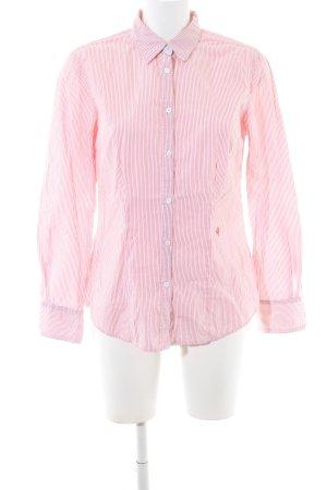 Brax Langarmhemd pink-weiß Streifenmuster Business-Look
