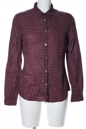 Brax Langarmhemd grafisches Muster Casual-Look