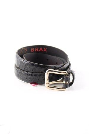 Brax Ledergürtel schwarz Animalmuster Business-Look