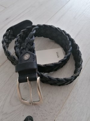 Brax Braided Belt dark blue