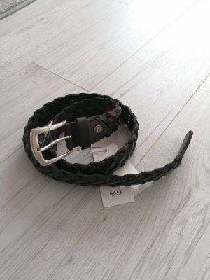 Brax Braided Belt dark brown