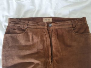 Brax Leather Trousers brown