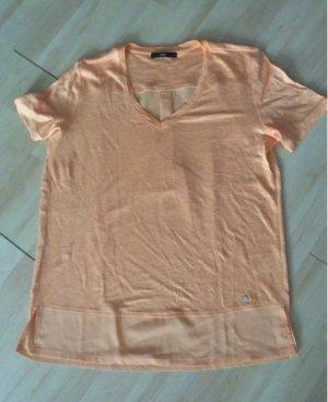 Brax Leinen Shirt Gr 38 Apricot