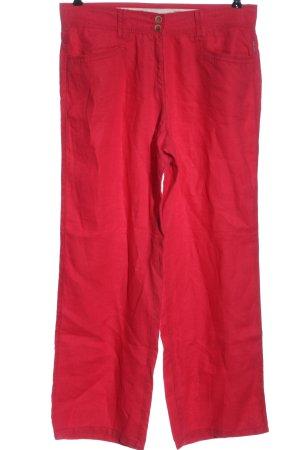Brax Pantalone di lino rosso stile casual