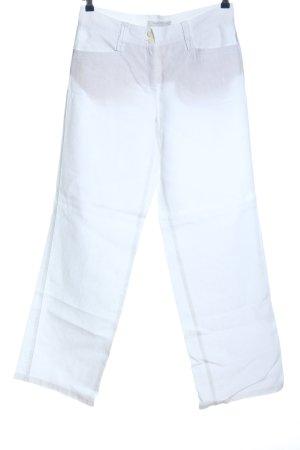 Brax Lniane spodnie biały W stylu casual