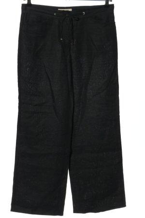 Brax Pantalone di lino nero stile casual