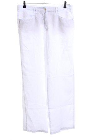 Brax Pantalón de lino blanco look casual