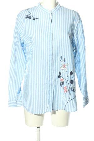 Brax Długa bluzka biały-turkusowy Wzór w kwiaty W stylu casual