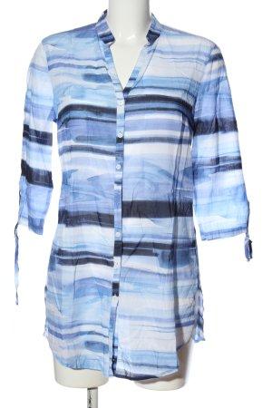 Brax Long-Bluse blau-weiß Streifenmuster Casual-Look