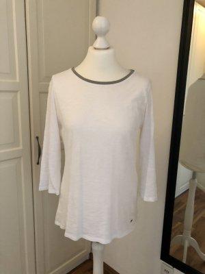 Brax Koszulka z długim rękawem biały-srebrny