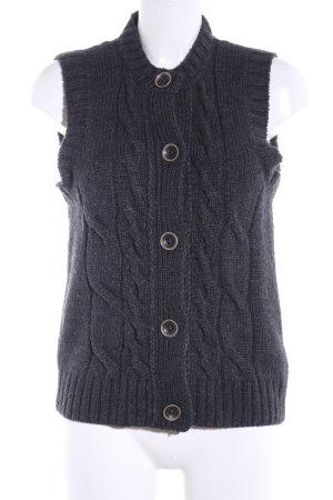 Brax Cardigan lungo smanicato grigio chiaro puntinato stile casual