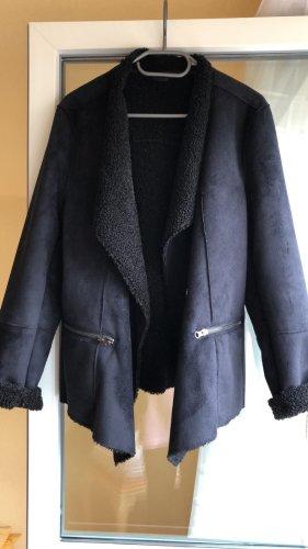 BRAX Mantel Jacke schwarz kuschelig
