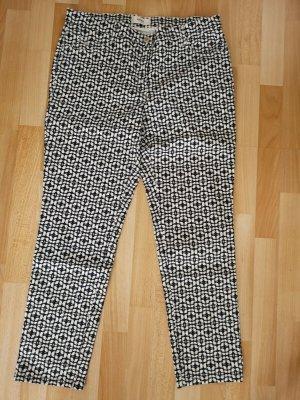 BRAX modisch gemusterte Hose, Gr. 42, dunkelblau-weiß