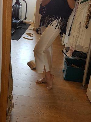 Brax Pantalon en lin blanc
