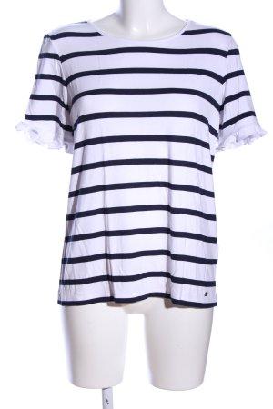 Brax Stripe Shirt white-black striped pattern casual look