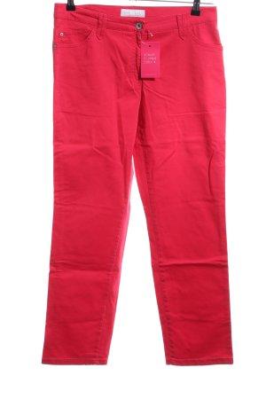 Brax Pantalón de tubo rojo look casual