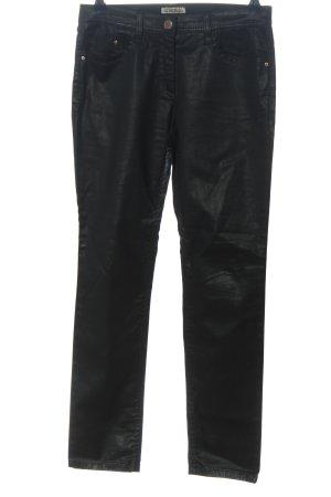 Brax Pantalon cigarette noir style décontracté