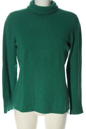 Brax Rollkragenpullover grün Zopfmuster Casual-Look