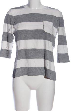 Brax Slip-over blouse lichtgrijs-wit gestippeld casual uitstraling