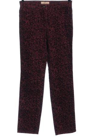 Brax Jeansy z prostymi nogawkami czerwony-czarny Na całej powierzchni