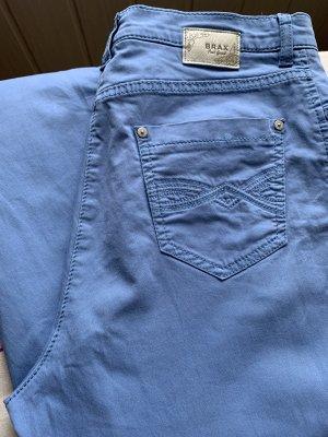 Brax Pantalone jersey blu-blu neon Cotone
