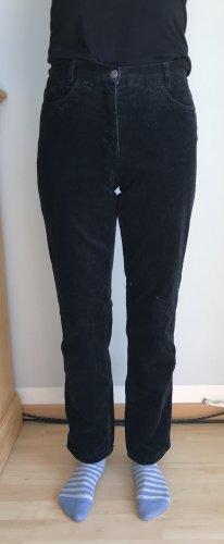 Brax Pantalon en velours côtelé noir tissu mixte