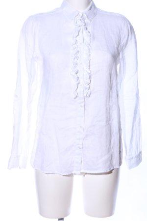 Brax Blusa de cuello alto blanco estilo «business»