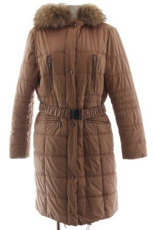 Brax Abrigo acolchado marrón estampado acolchado estilo «business»
