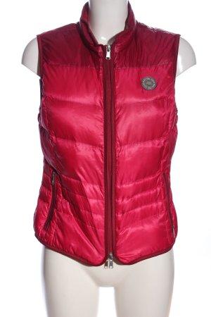 Brax Pikowana kamizelka różowy Pikowany wzór W stylu casual