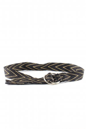 Brax Fabric Belt black-gold-colored graphic pattern casual look