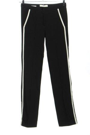 Brax Spodnie materiałowe czarny-biały W stylu casual