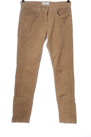 Brax Pantalon en jersey brun motif rayé style décontracté