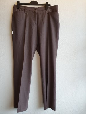 Brax feel Good Pleated Trousers light brown-grey brown polyester