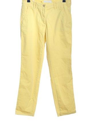 Brax Pantalone jersey giallo pallido stile casual