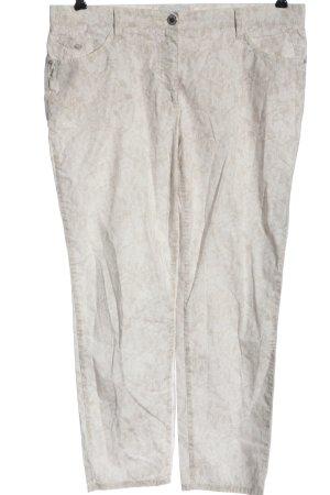 Brax Pantalon en jersey blanc cassé-blanc imprimé allover style décontracté