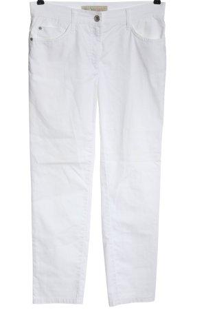 Brax Pantalone jersey bianco stile casual