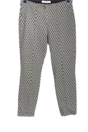 Brax Stoffhose weiß-schwarz grafisches Muster Casual-Look