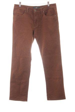 Brax Straight-Leg Jeans braun Webmuster Casual-Look