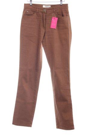 Brax Straight-Leg Jeans bronzefarben schlichter Stil