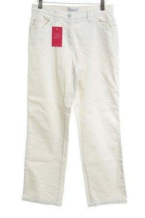 Brax Jeansy z prostymi nogawkami kremowy Tkanina z mieszanych włókien