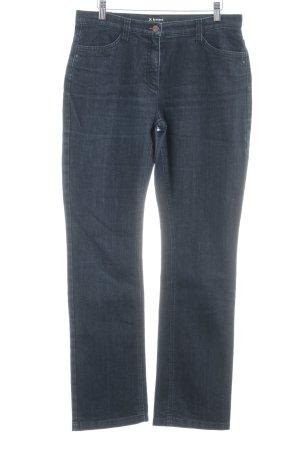 Brax Jeans met rechte pijpen donkerblauw casual uitstraling