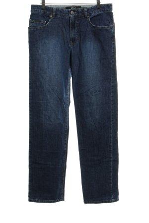 Brax Straight-Leg Jeans dunkelblau Washed-Optik